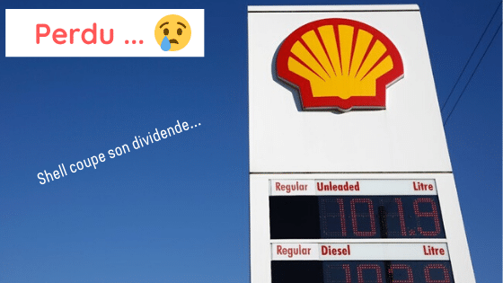 Royal Dutch Shell coupe son dividende